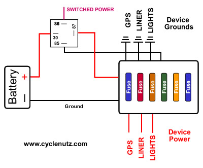 Fuseblock Relay on Fuse Block Diagram Of Relay For Motorcycle