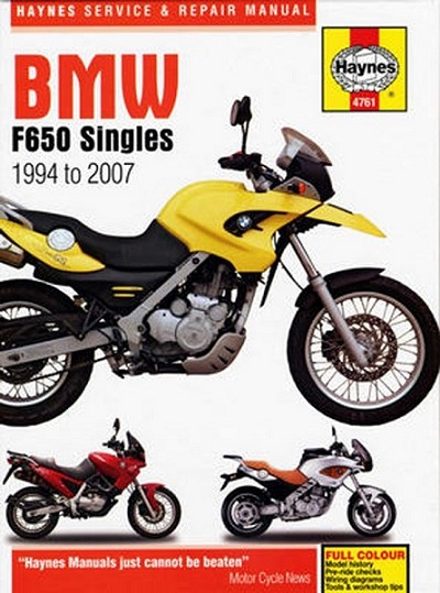 BMW F650 Single Repair Manual