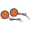 LED Round Marker Lights - Amber